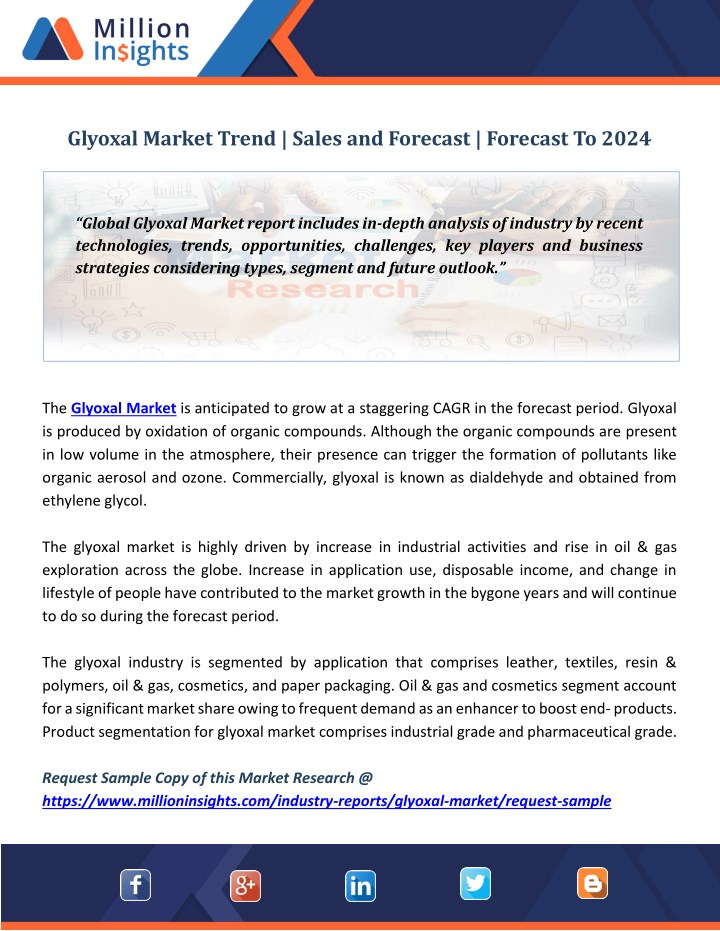 glyoxal market trend sales and forecast forecast n.
