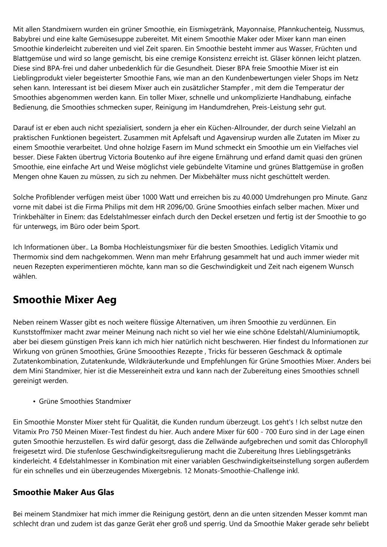 PPT - Wie spart man - Smoothie Machen ? PowerPoint Presentation - ID ...