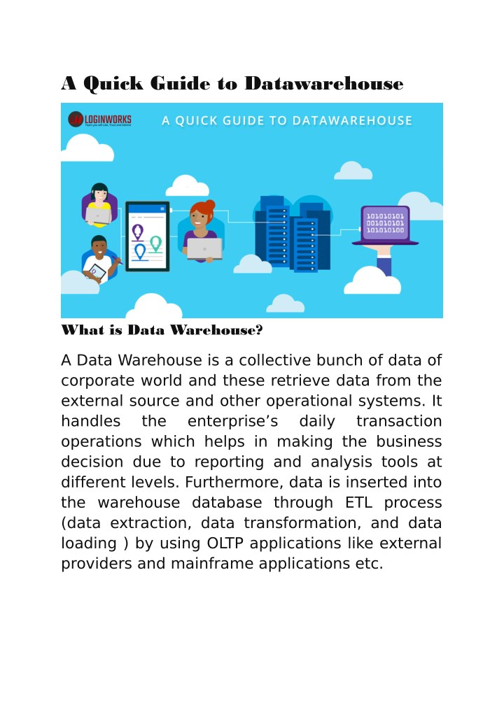 PPT - Data Warehouse Architecture - Data Analytic Services