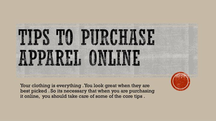 tips to purchase apparel online n.