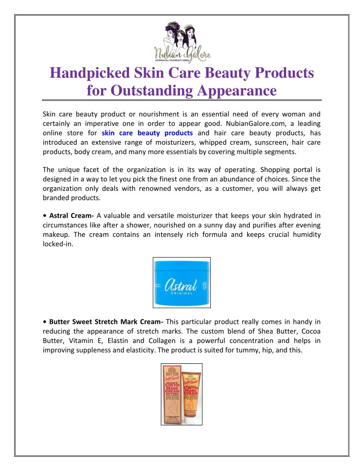 handpicked skin care beauty products n.