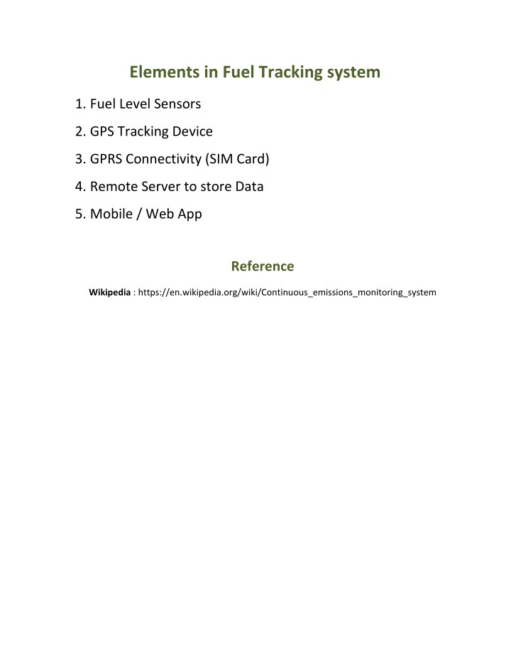 PPT - Fuel monitoring system PowerPoint Presentation - ID