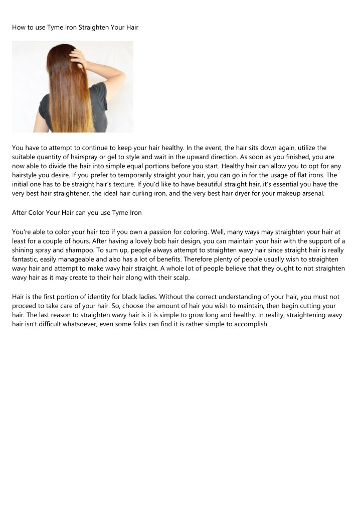 how to use tyme iron straighten your hair n.