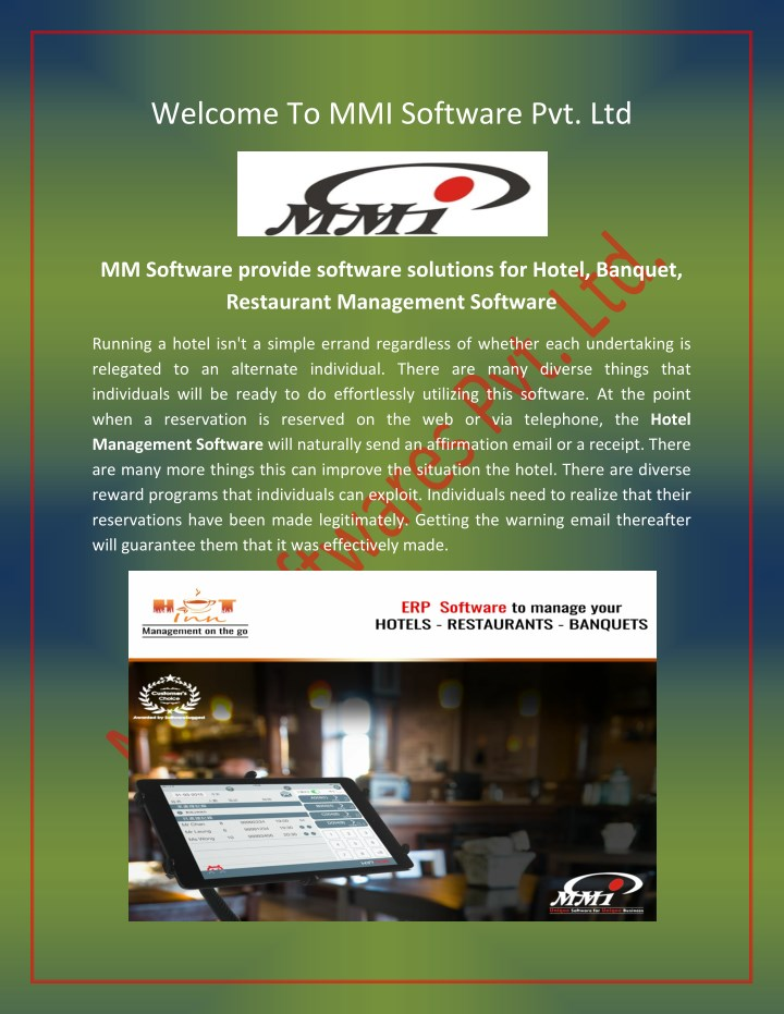 welcome to mmi software pvt ltd n.