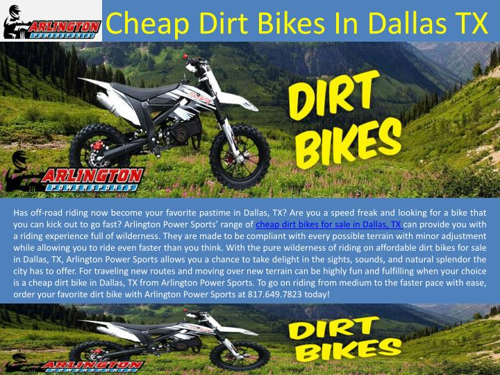 cheap dirt bikes in dallas tx n.