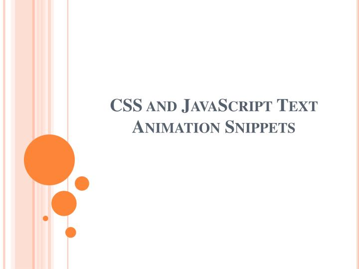 css and javascript text animation snippets n.