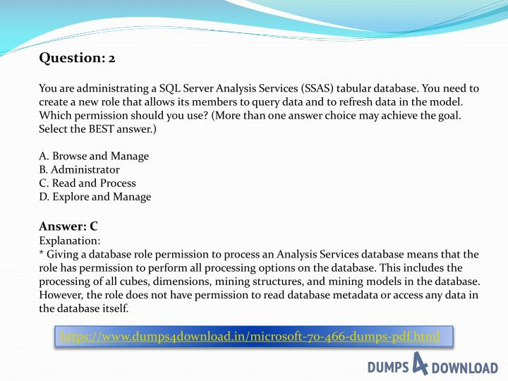 PPT - 2018 OCT - Microsoft 70-466 Exam Questions PDF Dumps