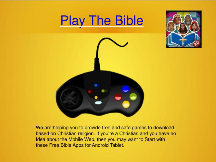play the bible n.