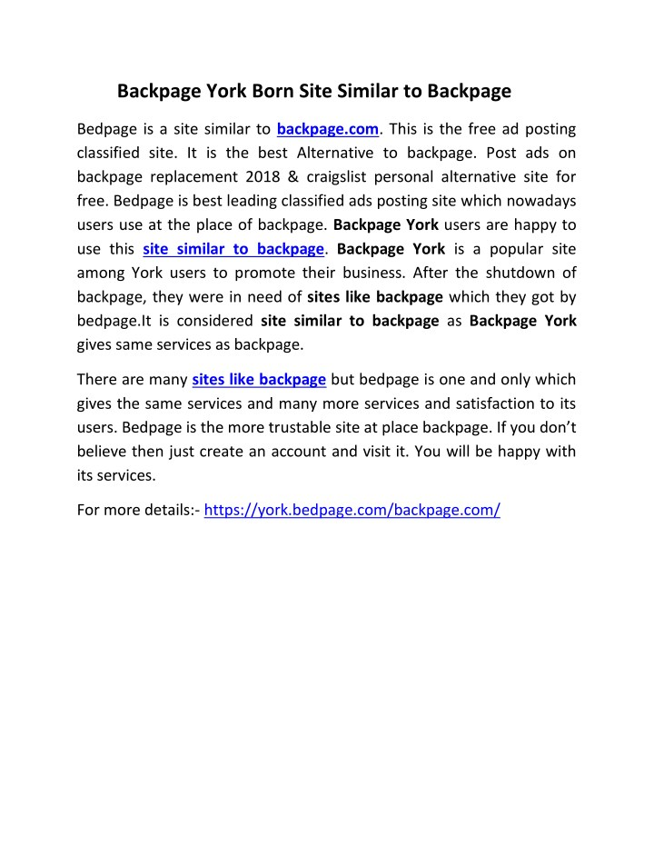 backpage york born site similar to backpage n.