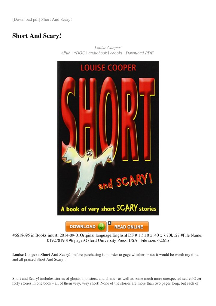 download pdf short and scary n.