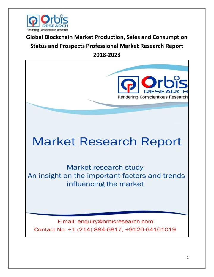 global blockchain market production sales n.