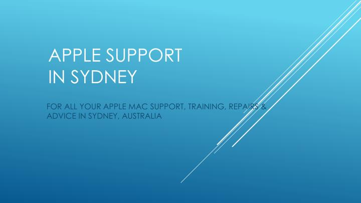 apple support in sydney n.
