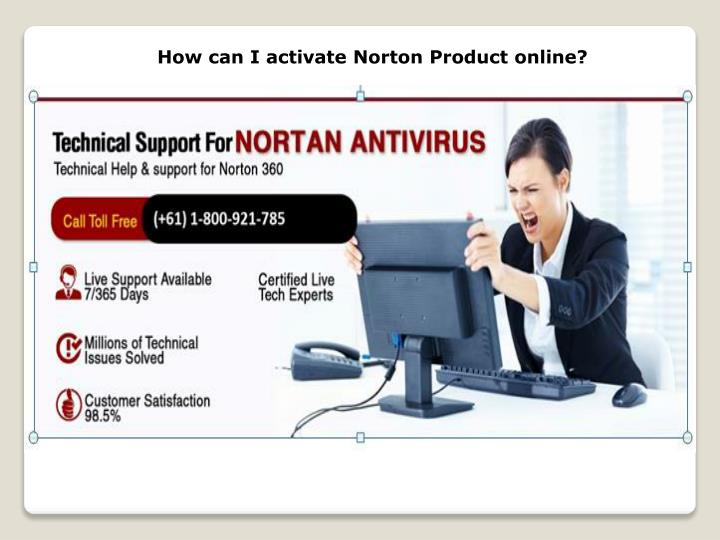 how can i activate norton product online n.