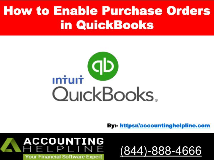 how to enable purchase orders in quickbooks n.