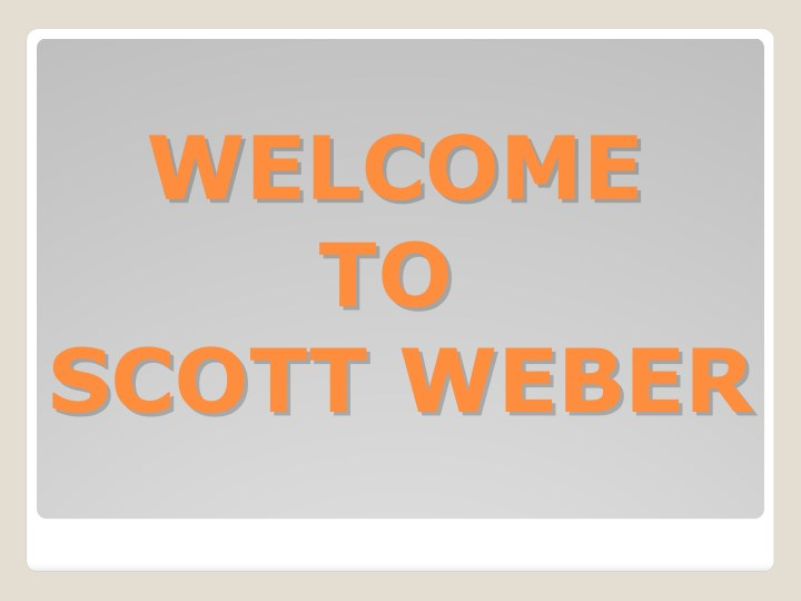 welcome welcome to to scott weber scott weber n.