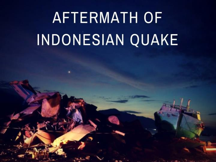 aftermath of indonesian quake n.