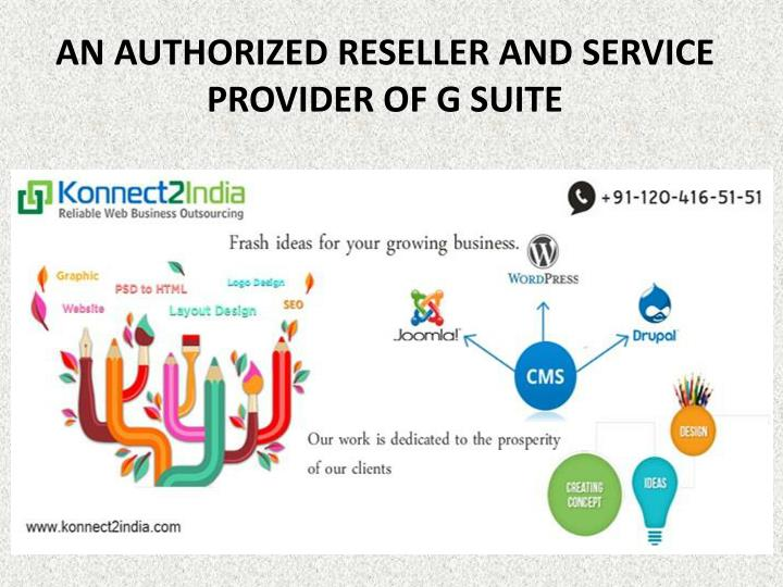 an authorized reseller and service provider of g suite n.
