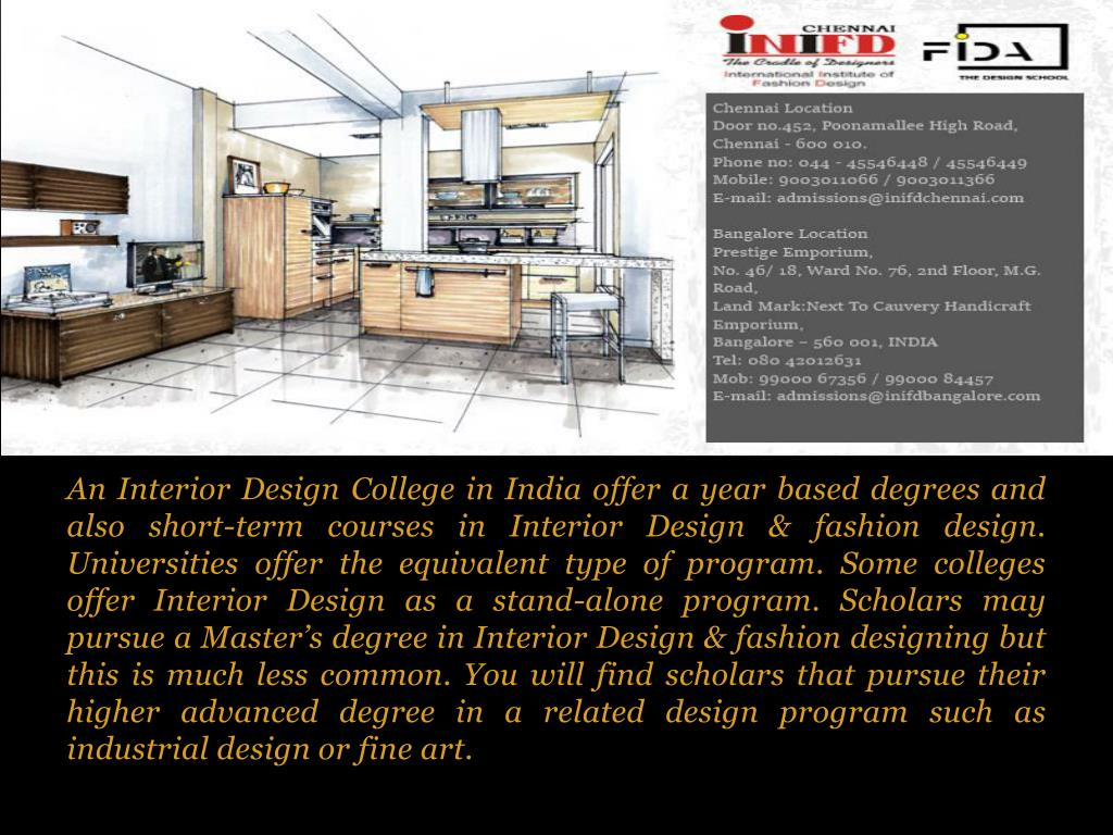Ppt Interior Design Courses In Chennai Powerpoint Presentation Free Download Id 8036110