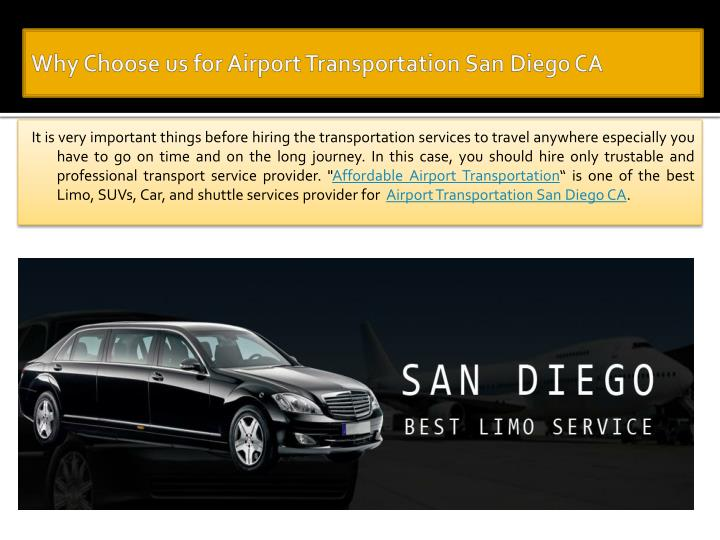 why choose us for airport transportation san diego ca n.