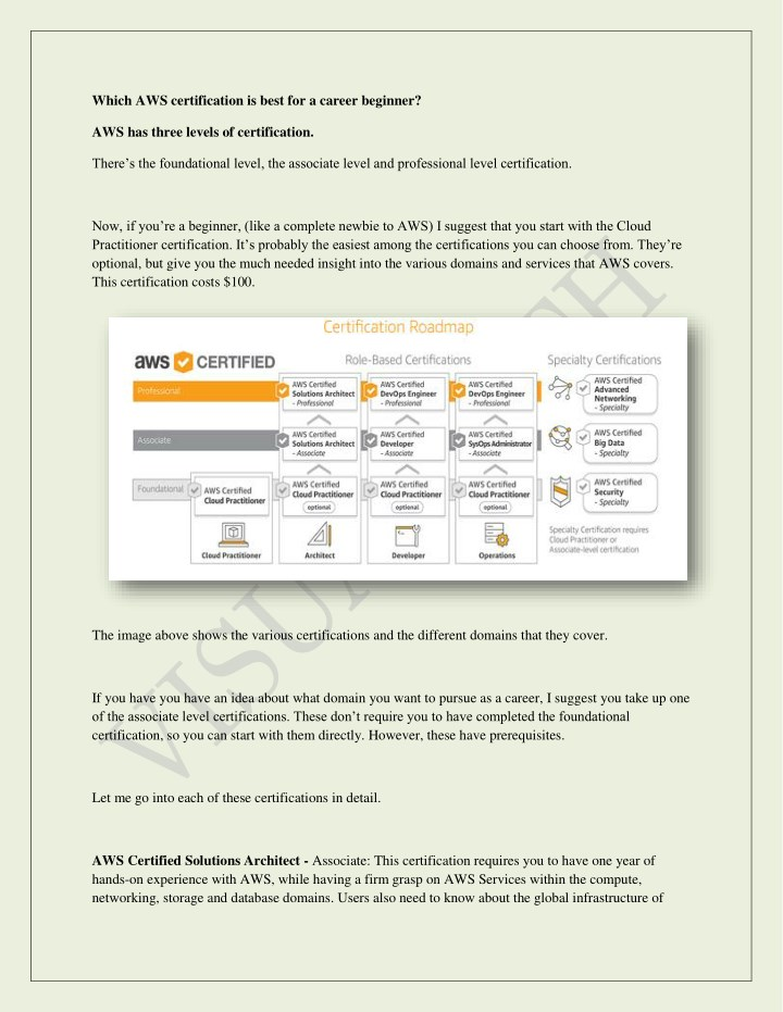 which aws certification is best for a career n.