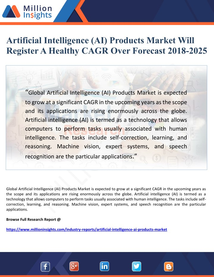 artificial intelligence ai products market will n.