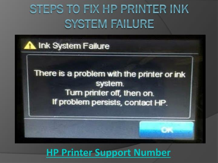 steps to fix hp printer ink system failure n.