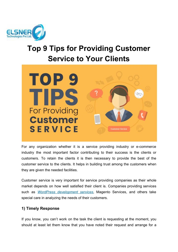 top 9 tips for providing customer service to your n.