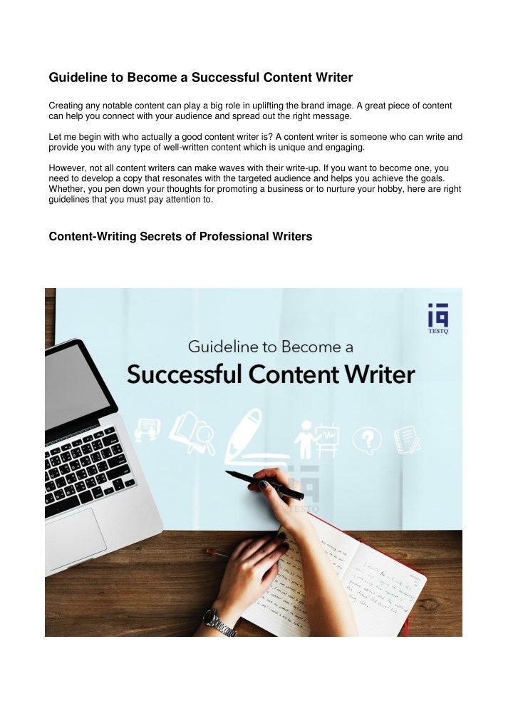 guideline to become a successful content writer n.