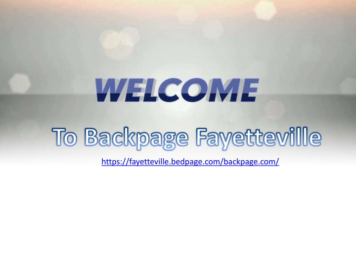 to backpage fayetteville n.