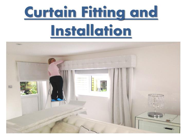 curtain fitting and installation n.
