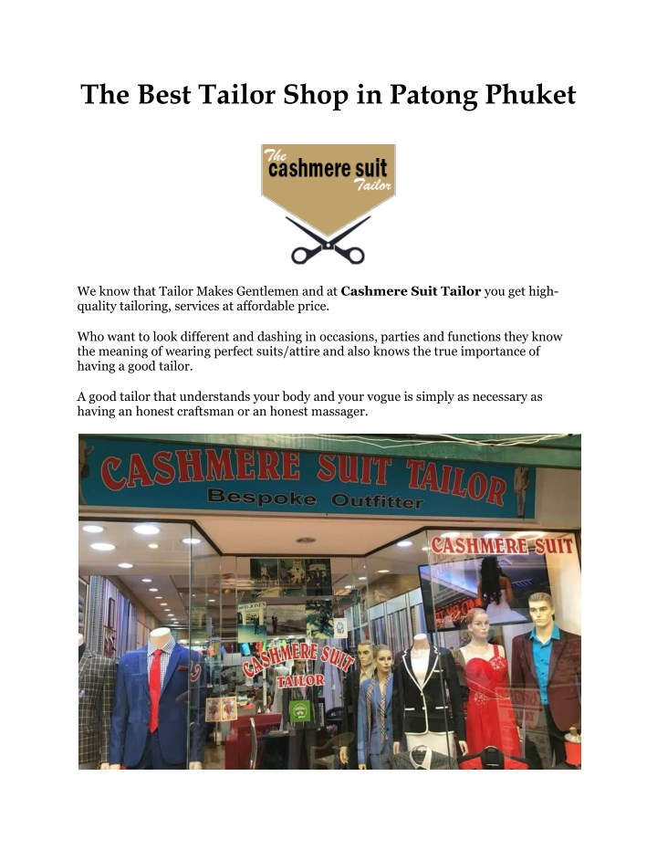 the best tailor shop in patong phuket n.