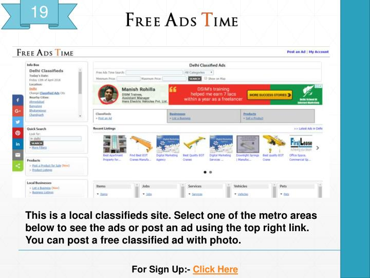 PPT - Top 20 Free high PA/DA Classified Submission Sites