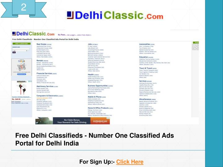 PPT - Top 20 Free high PA/DA Classified Submission Sites List 2018