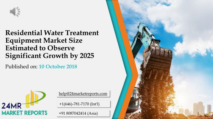 residential water treatment equipment market size estimated to observe significant growth by 2025 n.
