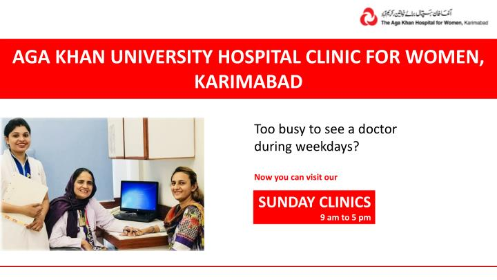 aga khan university hospital clinic for women n.