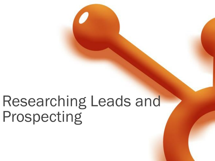 researching leads and prospecting n.