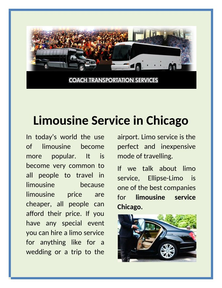 limousine service in chicago n.