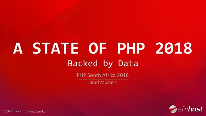 a state of php 2018 n.