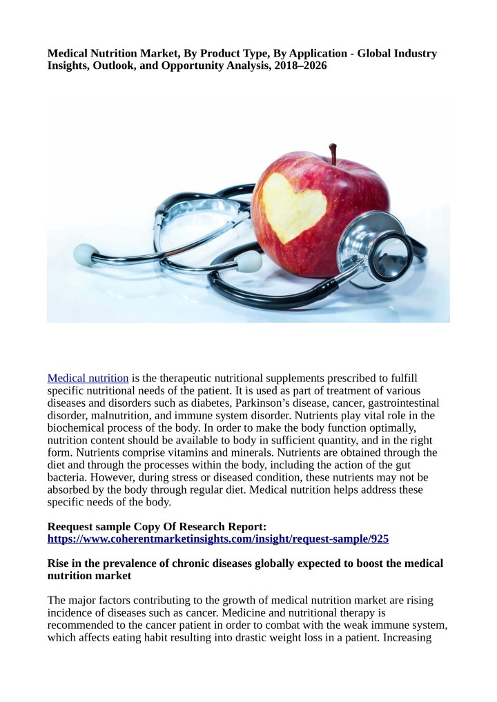 medical nutrition market by product type n.