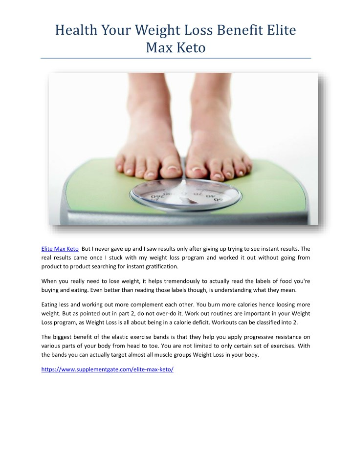 health your weight loss benefit elite max keto n.