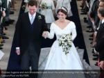princess eugenie and jack brooksbank walk down