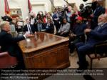 president donald trump meets with rapper kanye