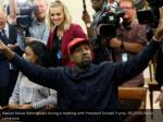 rapper kanye west speaks during a meeting with 2