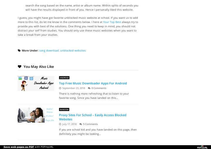 free music downloader unblocked