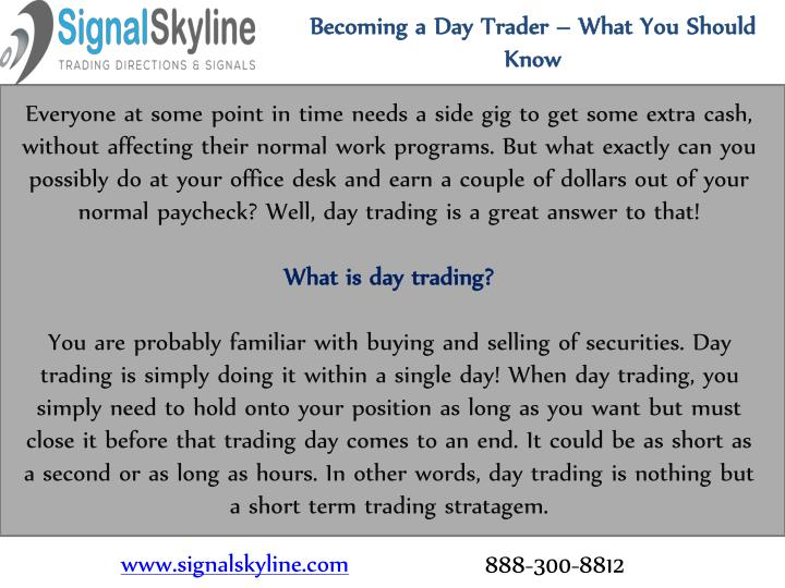 becoming a day trader what you should know n.