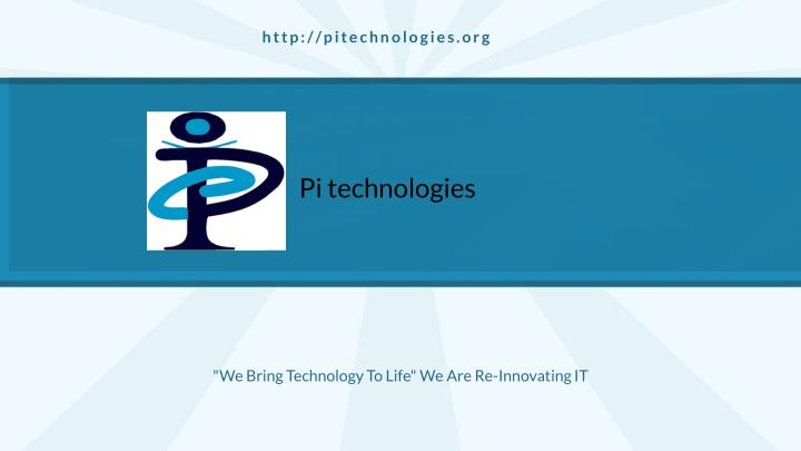 we bring technology to life we are re innovating it n.