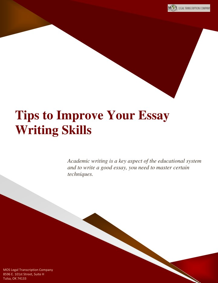 tips to improve your essay writing skills n.