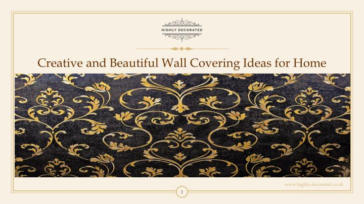creative and beautiful wall covering ideas n.