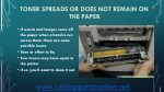 toner spreads or does not remain on the paper