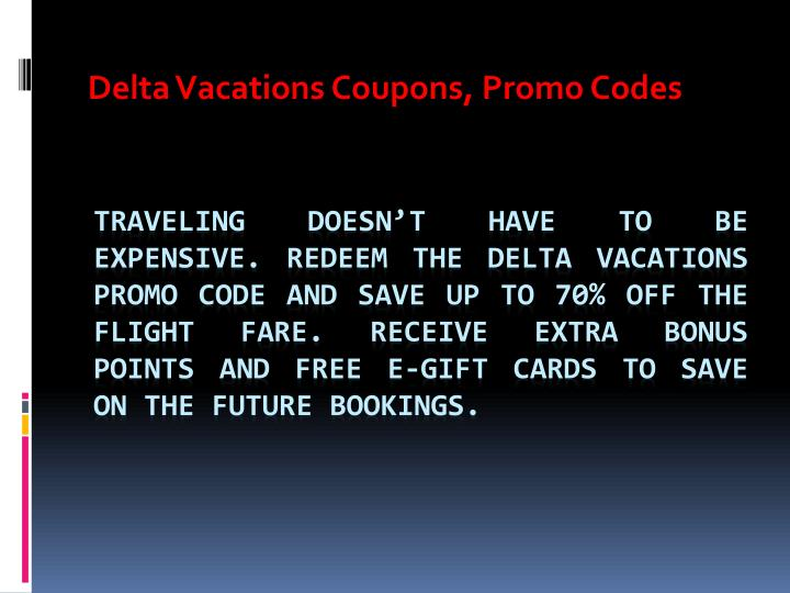 delta vacations coupons promo codes n.